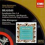 Johannes Brahms Great Recordings Of The Century: Symphonies Nos 1-4/'Haydn' Variations/Alto Rhapsody/Academic Festival  & Tragic Overtures