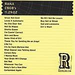 Rana CBGB's - NYC, NY - 11.29.02
