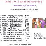 Ken Nunoo Dance To The Sounds Of Nature, Vol.2