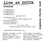 Paul Bailey Ensemble Live From Occca