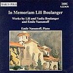 Emile Naoumoff In Memoriam Lili Boulanger