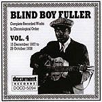 Blind Boy Fuller Blind Boy Fuller: Complete Recorded Works, Vol.4 (1937-1938)