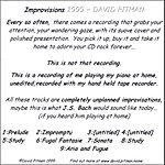 David Pitman Improvisions 1999