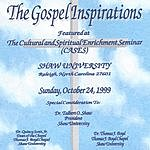 The Gospel Inspirations Featured At The Boyd Chapel, Shaw University, Raleigh, N. C.