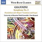 Tom Bennett Symphony No.3/Dedication Overture/Variations And Fugue