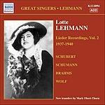 Lotte Lehmann Lieder Recordings, Vol.2 (1937-1940)