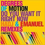 Degrees Of Motion Do You Want It Right Now (Remixes)
