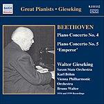 Walter Gieseking Piano Concertos Nos. 4 & 5