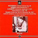 Sviatoslav Richter Fantasia, Op.80/Piano Sonata No.3, Op.49/Moments Musicaux Nos.1, 3 & 6/Impromptu No.2, Op.142/Etude No.3, Op.10/Polonaise No.1, Op.26