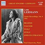 Lotte Lehmann Lieder Recordings, Vol. 4 (1941)