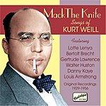 Lotte Lenya Mack The Knife: Songs Of Kurt Weill