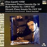 Dinu Lipatti Piano Concerto Op.54/Partita No.1, BWV 825/Piano Sonata No.8, K.310
