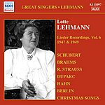 Lotte Lehmann Lieder Recordings, Vol.6 (1947, 1949)