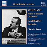 Claudio Arrau Burleske/Piano Concerto/Carnaval