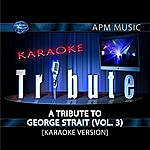 George Strait Karaoke Tribute: A Tribute To George Strait, Vol.3