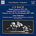Artur Schnabel J.S. Bach: Italian Concerto BWV 971/Toccatas BWV 971 & BWV 972/Concerto No.2 For 2 Keyboards, BWV 1061