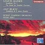Neeme Järvi Barber: Symphony No.1/The School For Scandal: Overture/Beach: Symphony in E Minor (Gaelic)