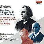 Neeme Järvi Brahms: Piano Quartet No.1/Variations And Fugue On A Theme By Handel, Op.24