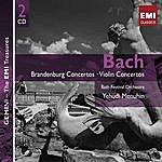 Yehudi Menuhin Bach: Brandenburg And Violin Concertos