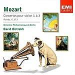 Wolfgang Amadeus Mozart Mozart : Violin Concertos 1-3/Rondo K373