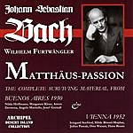 Irmgard Seefried Bach: Matthäus Passion