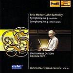 Dresden Staatskapelle Mendelssohn: Symphonies Nos. 3 & 5