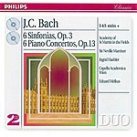 Academy Of St. Martin-In-The-Fields Bach, J.C.: 6 Sinfonias Op.3/6; Piano Concertos Op.13