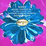 David Zinman Barber: Adagio; Symphony No.1 etc.