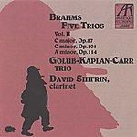 David Shifrin Brahms: Five Trios, Volume II