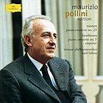 """Maurizio Pollini Mozart: Piano Concerto No.23 / Beethoven: Piano Concerto No.5 """"Emperor"""""""