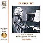Jenő Jandó LISZT: Piano Sonata / 2 Legendes / Gretchen (Liszt Complete Piano Music, Vol. 8)