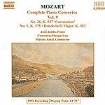 Jenő Jandó MOZART: Piano Concertos Nos. 5 And 26 / Rondo, K. 382