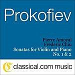 Abdel Rahman El Bacha Sergey Prokofiev, Sonata For Violin And Piano No. 1 In F Minor, Op. 80