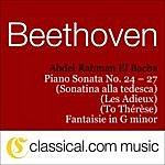 Abdel Rahman El Bacha Ludwig Van Beethoven, Piano Sonata No. 24 In F Sharp, Op. 78 (À Thérèse / To Teresa)