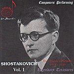 Dmitri Shostakovich Composers Performing: Shostakovich, Vol.1