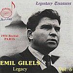 Emil Gilels Emil Gilels Legacy, Vol.6: 1954 Recital, Paris
