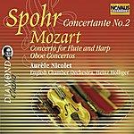Heinz Holliger Wolfgang Amadeus Mozart: Concerto for Flute, Harp and Orchestra K299, Oboe concertos K313 & K314 - Louis Spohr: Concertante No 2  in E minor for Violin, Harp & Orchestra
