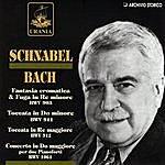 Artur Schnabel Schnabel: Bach & Weber - Opere Per Pianoforte