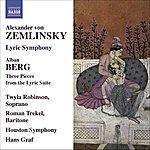 Houston Symphony Orchestra Zemlinsky, A. Von: Lyric Symphony / Berg, A.: 3 Pieces From The Lyric Suite (Robinson, Trekel, Houston Symphony, Graf)