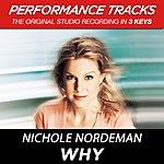 Nichole Nordeman Why (Premiere Performance Plus Track)