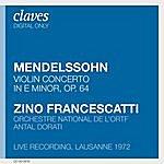 Zino Francescatti Francescatti : Mendelssohn