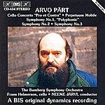 Neeme Järvi Pärt: Cello Concerto/Perpetuum Mobile/Symphonies No. 1, No. 2 And No. 3