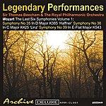 Sir Thomas Beecham Mozart: The Last 6 Symphonies Vol. 1 - Legendary Performances