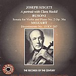 Max Goberman Szigeti Plays Busoni & Mozart - A Portrait With Clara Haskil