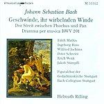 Helmuth Rilling Bach, J.s.: Geschwinde, Ihr Wirbelnden Winde / Oboe D'amore Concerto, Bwv 1055