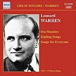 Leonard Warren Warren, Leonard: Sea Shanties - Kipling Songs - Songs For Everyone (1947-1951)