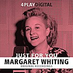 Margaret Whiting Just For You - 4 Track Ep