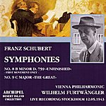 Wilhelm Furtwängler Franz Schubert : Symphonies No.8 In B Minor D.759 Unfinished & No.9 In C Major The Great