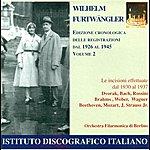 Berlin Philharmonic Orchestra Orchestral Music - Dvorak, A. / Bach, J.s. / Rossini, G. / Brahms, J. / Weber, C.m. Von (Chronological Edition Of Recordings, 1926-45)