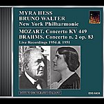 Myra Hess Mozart: Piano Concerto No. 14 / Brahms: Piano Concerto No. 2 (Hess, Walter) (1951, 1954)